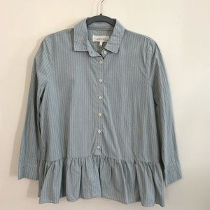 THE GREAT striped babydoll oversized shirt